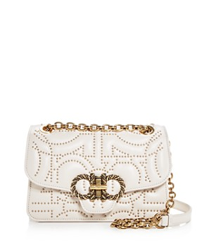 Salvatore Ferragamo - Medium Gancini-Studded Leather Crossbody