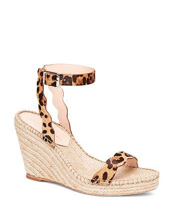 Loeffler Randall - Women's Parker Leopard-Print Calf Hair Espadrille Wedge Sandals