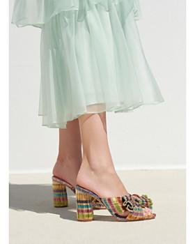 Loeffler Randall - Women's Penny Knotted Block Heel Mule Sandals