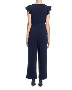 T Tahari - Ruffled Wide-Leg Jumpsuit