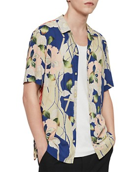 3b22e05c285 ALLSAINTS - Fuyugi Floral Regular Fit Shirt ...