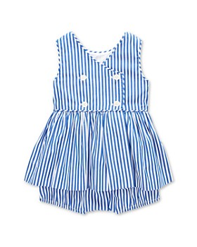 d5a2178f3 Ralph Lauren - Girls' Striped Pleated Dress & Bloomers Set - Baby ...