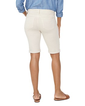 7858f6c2b123 ... NYDJ - Briella Cuffed Denim Bermuda Shorts in Feather