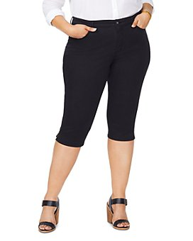 NYDJ Plus - Skinny Capri Jeans in Black