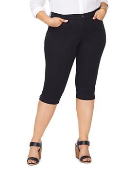 NYDJ Plus - Skinny Capri Jeans in Black