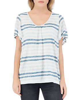 B Collection by Bobeau - Emile Striped Scoop-Neck Tee