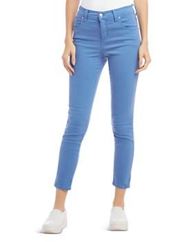 Karen Kane - Zuma Cropped Skinny Twill Jeans in Tile Blue