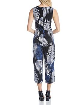 Karen Kane - Sleeveless Palm-Print Jumpsuit
