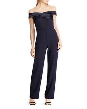 f1db6d6337 Ralph Lauren - Off-the-Shoulder Crepe Jumpsuit ...