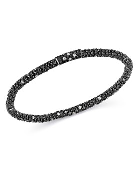 Roberto Demeglio - 18K White Gold Gioconda Stretch Bracelet with Black & White Diamonds