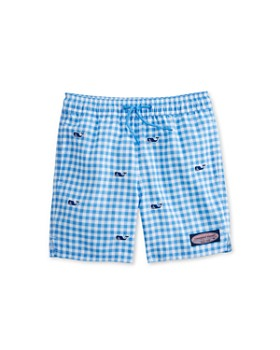 cab33d01f0 Vineyard Vines - Boys' Gingham Whale Chappy Swim Shorts - Little Kid, ...