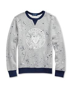 Ralph Lauren - Boys' Splattered Terry Logo Sweatshirt - Big Kid