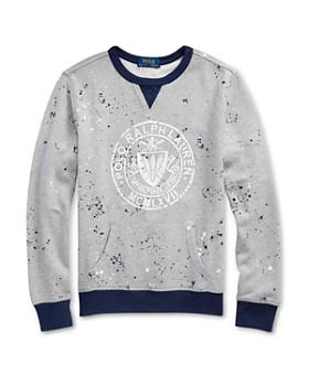 2127edf68 Ralph Lauren - Boys' Splattered Terry Logo Sweatshirt - Big Kid ...