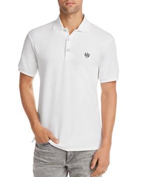 rag & bone - Embroidered Dagger Regular Fit Piqué Polo Shirt