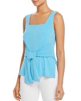 Kenneth Cole - Sleeveless Tie-Front Top