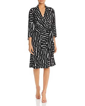 Kenneth Cole - Printed Faux-Wrap Dress