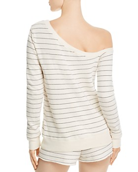n:philanthropy - Walker Striped One-Shoulder Sweatshirt