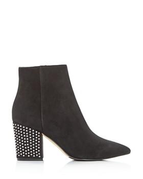Sergio Rossi - Women's Crystal High Block-Heel Boots
