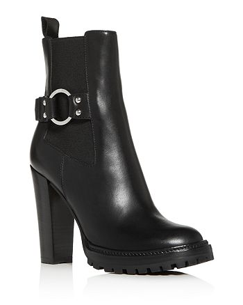 Sergio Rossi - Women's Motor High Block-Heel Booties