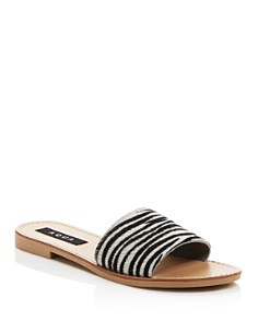 AQUA - Women's Zebra Print Slide Sandals - 100% Exclusive