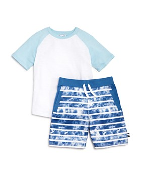 Splendid - Boys' Raglan Tee & Tie-Dyed Shorts Set - Little Kid, Big Kid
