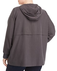 Eileen Fisher Plus - Hooded Zip Jacket