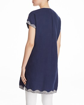 Johnny Was - Bisous Embroidered Linen Dress
