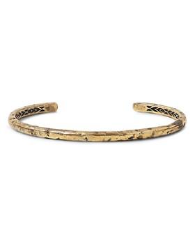 John Varvatos Collection - Brass Artisan Metals Narrow Cuff Bracelet