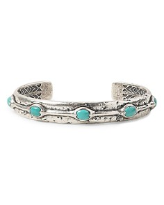 John Varvatos Collection - Sterling Silver Artisan Metals Turquoise Cuff Bracelet