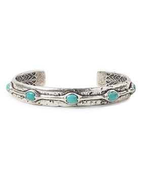 John Varvatos Collection - Sterling Silver Artisan Metals Turquoise Cuff Bracelet