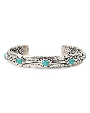 John Varvatos Collection Sterling Silver Artisan Metals Turquoise Cuff Bracelet