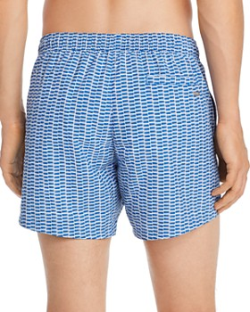 BOSS Hugo Boss - Lionfish Geometric-Print Swim Trunks