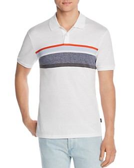 BOSS - Phillipson Stripe-Front Slim Fit Polo Shirt