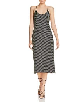 alexanderwang.t - Wash & Go Striped Slip Dress
