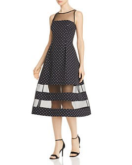 Aidan by Aidan Mattox - Polka Dot Midi Dress