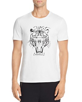 Just Cavalli - Embroidered Tiger Skull Graphic Tee