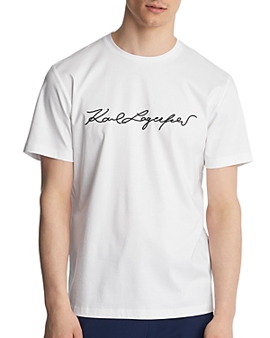 Karl Lagerfeld Tops EMBROIDERED SIGNATURE TEE