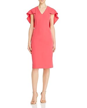 nanette Nanette Lepore Cape-Overlay Dress