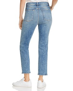 rag & bone/JEAN - Nina High-Rise Cropped Cigarette Jeans in Cleo With Holes