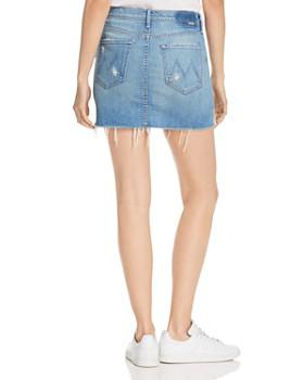 MOTHER - The Vagabond Distressed Denim Mini Skirt