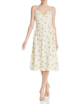 a35b507e9bff AQUA - Lemon Print Faux-Wrap Dress - 100% Exclusive ...