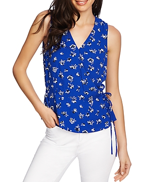 1.state Tops SLEEVELESS FLORAL FAUX-WRAP TOP