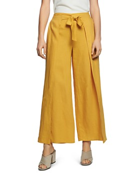 88ebea81cb8d86 1.STATE - Tie-Waist Wide-Leg Linen Pants ...