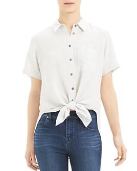 Theory - Hekanina Tie-Front Shirt