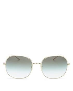 Oliver Peoples - Women's Mehrie Round Sunglasses, 57mm