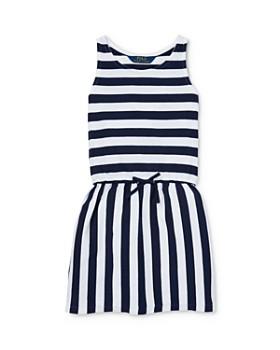 e10ad949c Ralph Lauren - Girls' Striped Drop-Waist Dress - Little Kid ...