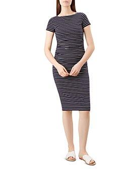 HOBBS LONDON - Bridget Ruched Striped Dress