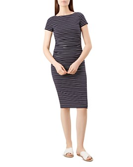 HOBBS LONDON - Bridget Ruched Striped Dress