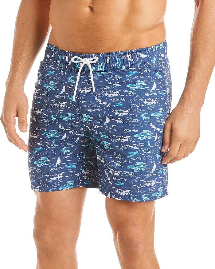 Lacoste - Sea-Print Swim Shorts