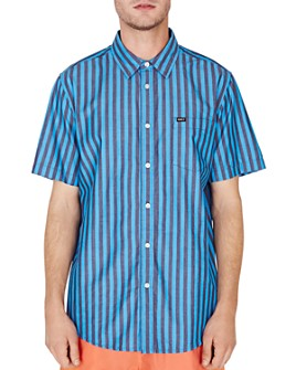 OBEY - Langton Short-Sleeve Striped Regular Fit Shirt